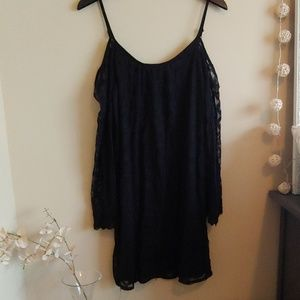Cold Shoulder Beach Cover Up Dress